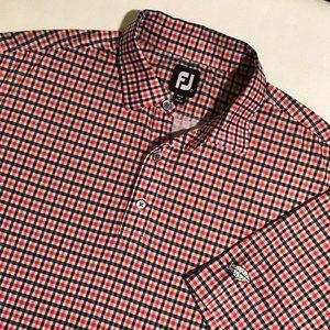 Men's Footjoy Gingham Short Sleeve Polo Shirt